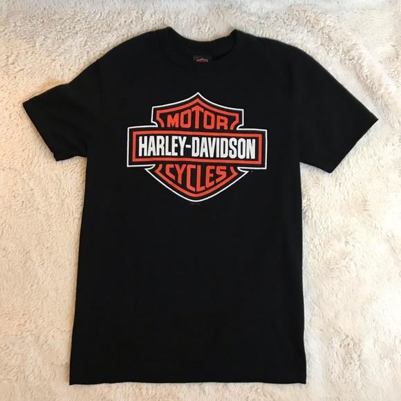 M Harley Davidson Macon GA Logo Graphic Shirt